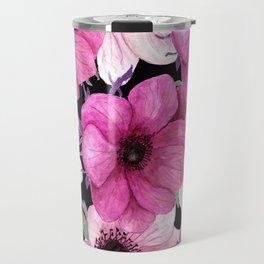 Elegant Floral Pageantry in Pretty Pink Pattern Travel Mug