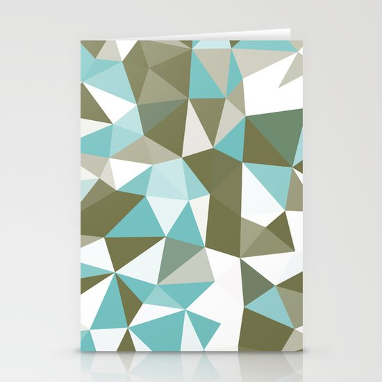 Seaweed Tris Stationery Cards
