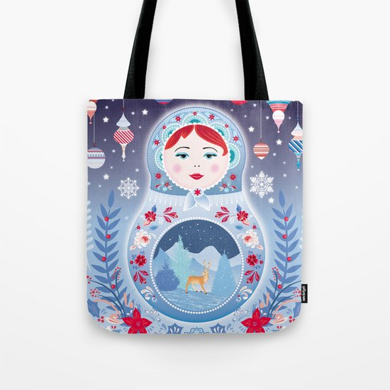Our Lady of Winter Tote Bag