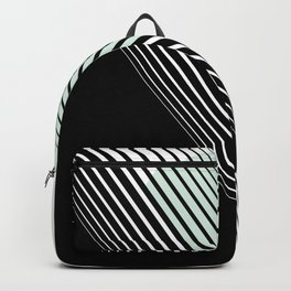 Rising Sun Minimal Japanese Abstract White Black Mint Green Backpack