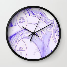 Sexy anime aesthetic - aching Wall Clock