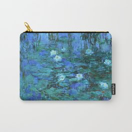 Claude Monet Water Lilies BLUE Carry-All Pouch