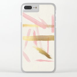 Disorder (Rose + Gold) Clear iPhone Case