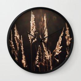 Dusk - Long Grass Wall Clock