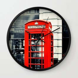 British Telephone Booth Wall Clock