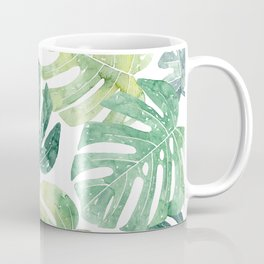 Tropical leaves Monstera leaves Jungle leaves Palm leaves Coffee Mug