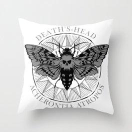 deaths head moth Throw Pillow