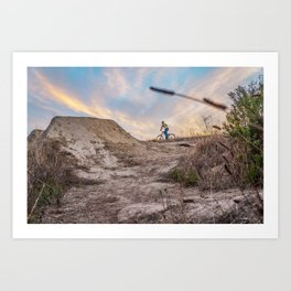 Sunset BMX Session  Art Print