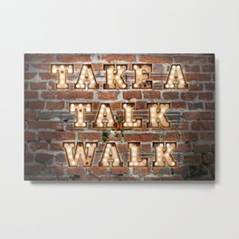 Take a Talk Walk - Brick Metal Print