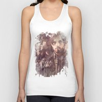 leon Tank Tops featuring kings of leon by Nechifor Ionut