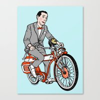 pee wee Canvas Prints featuring Pee Wee Herman by Michael Scarano