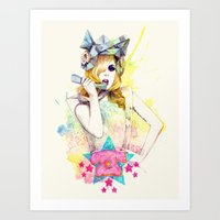 telephone Art Prints featuring Telephone by Mibou