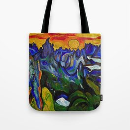 African American Masterpiece 'Midnight Sun, Norway' by William Henry Johnson Tote Bag