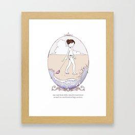 ee cummings - May Framed Art Print