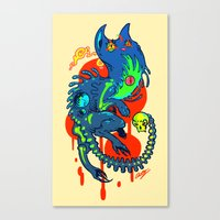 wtnv Canvas Prints featuring Khoshekh by Guts & Glory