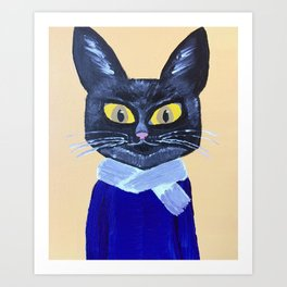 Marx the Cat Art Print