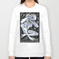 anxiety Long Sleeve T-shirts featuring 'Anxiety' by Jerry Kirk