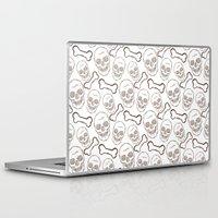 skulls Laptop & iPad Skins featuring Skulls by AldanNi