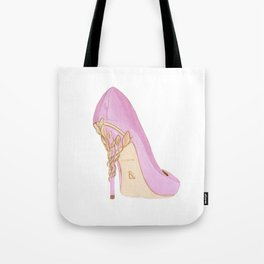 Pink Shoe Tote Bag