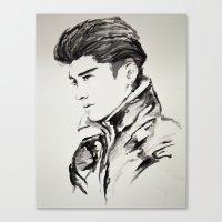 zayn malik Canvas Prints featuring Zayn Malik by Jade W