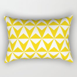 Mid Century Modern Triangle Pattern 531 Yellow Rectangular Pillow