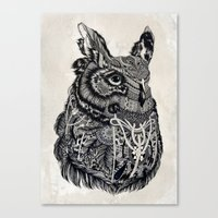 owl Canvas Prints featuring Owl by Feline Zegers