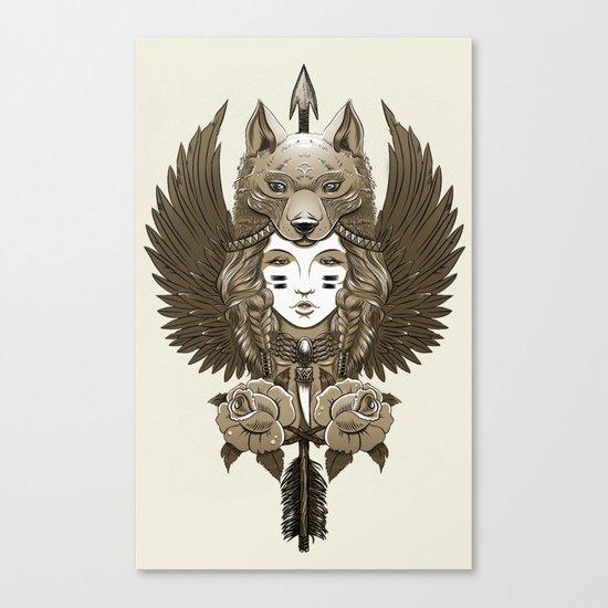 Native girl (light version) Canvas Print