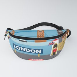 London, England - Collage Illustration by Loose Petals Fanny Pack