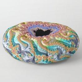 Colorful Slopes Mandelbrot Fractal Floor Pillow