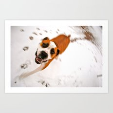 snow day for buster brown Art Print