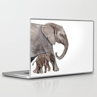 elephants Laptop & iPad Skins featuring Elephants by Goosi