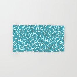 Aqua Blue Cracked Paint Hand & Bath Towel