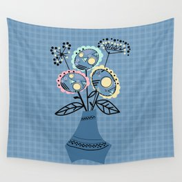 Quilling, flowers in vase Wall Tapestry