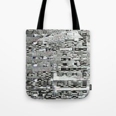 Highly Resolved Ghost (P/D3 Glitch Collage Studies) Tote Bag