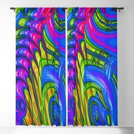 Rainbow Acid Trip Blackout Curtain