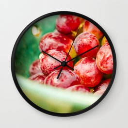 Red Grapes Wall Clock