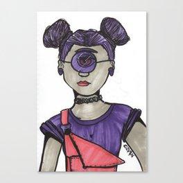 Grunge Cyclops Canvas Print