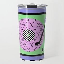 Play That Retro Geometric Vinyl Travel Mug