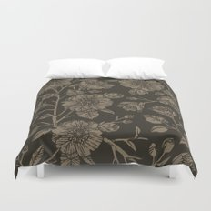 Midnight Blooms Duvet Cover