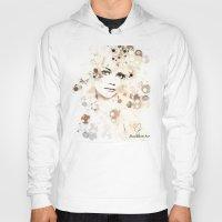 emma stone Hoodies featuring Emma Stone by Rene Alberto