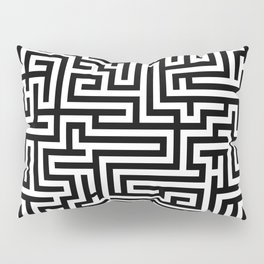 Black and white Labyrinth Pillow Sham