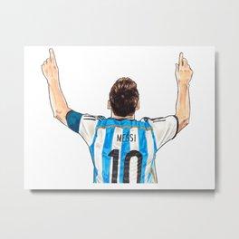Messi - Argentina Metal Print
