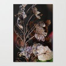 Lace Leaves Canvas Print