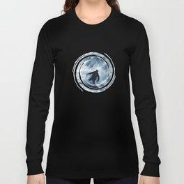 Snowboarder in 100km Blower Long Sleeve T-shirt