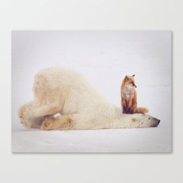 Foxy takedown Canvas Print