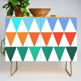 Triangles of Color Credenza