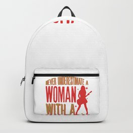 Never Underestimate A Woman With a Guitar design Backpack