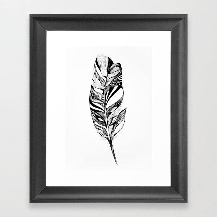 Feather - Lucidity Framed Art Print