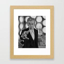 Twelfth Doctor Old Tardis Framed Art Print