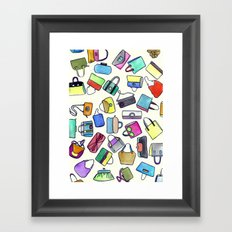 colored bags obsession Framed Art Print